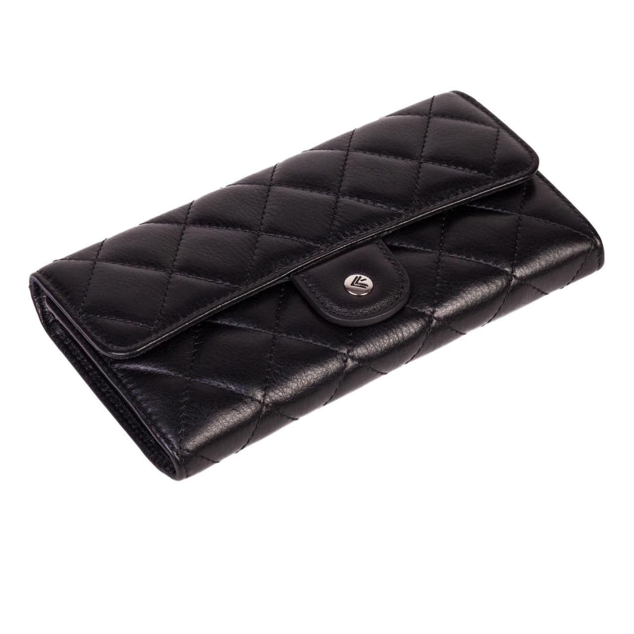 Жіночий гаманець Eminsa 2096-12-1 шкіряний чорний