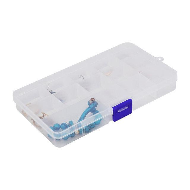 Розпродаж! Пластиковий контейнер, органайзер для дрібниць, (68791), коробка для прикрас