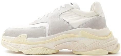 """Мужские кроссовки Balenciaga Triple S """"White/Yellow"""" (в стиле Баленсиага)"""