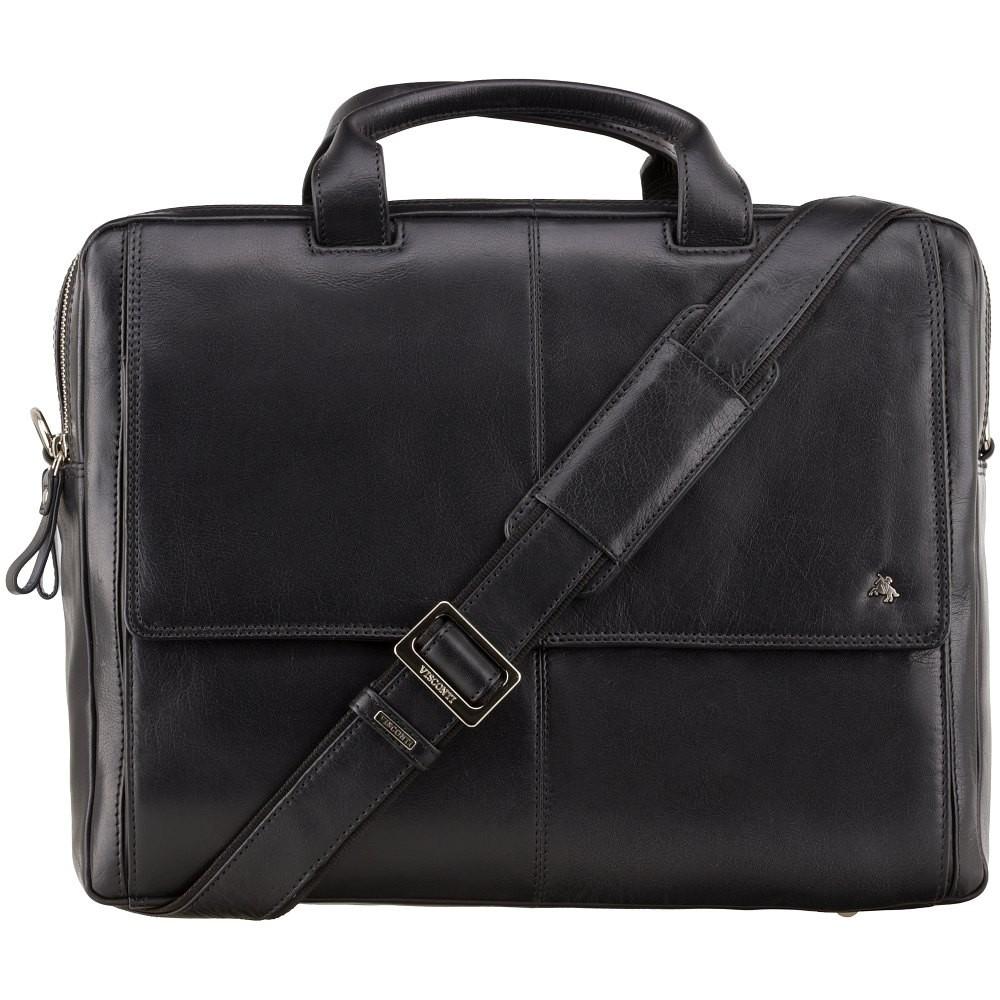 Кожаная сумка для ноутбука Visconti ML24 Black (Великобритания)