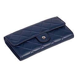 Женский кошелек кожаный синий Eminsa 2096-12-19