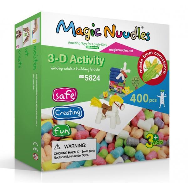 Детский конструктор, липучка, Magic Nuudles, развивающий, 400 деталей