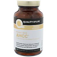 Quality of Life Labs, Kinoko Gold AHCC, поддержка иммунитета, 500 мг, 60 вегетарианских капсул