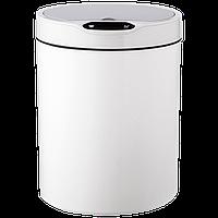 Сенсорное мусорное ведро JAH 12 л круглое белое, фото 1