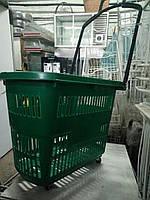 Пластиковые корзины с двумя ручками 30 л. бу. корзины торговые б.у.