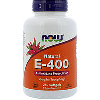 Now Foods, Natural E-400, 250 Softgels
