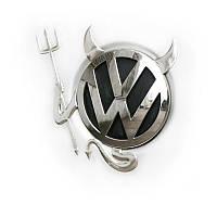 🔝 Оригинальная наклейка на авто Diablo - автонаклейка, цвет - серебристый, с доставкой по Украине | 🎁%🚚, фото 1
