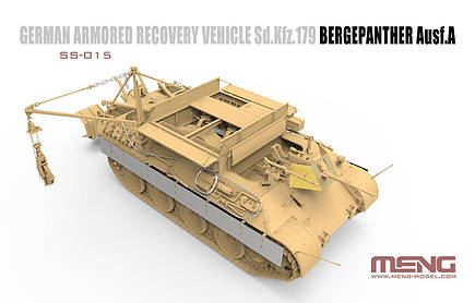 German Armored Recovery Vehicle Sd.Kfz.179 Bergepanther Ausf.A. 1/35 MENG SS-015, фото 2