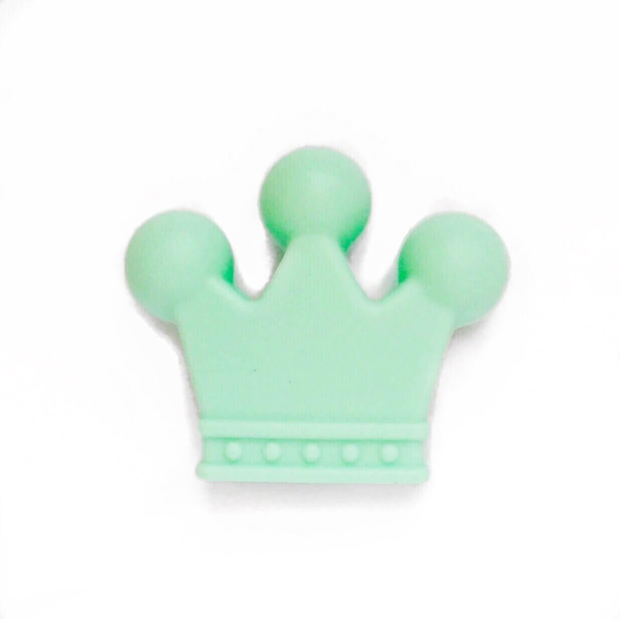 Корона (мята) бусина из пищевого силикона-