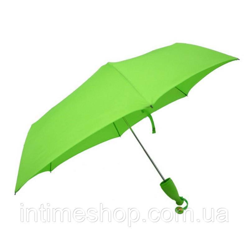 🔝 Необычный зонт, зонт Банан, женский складной зонт, дизайнерский, цвет - салатовый   🎁%🚚