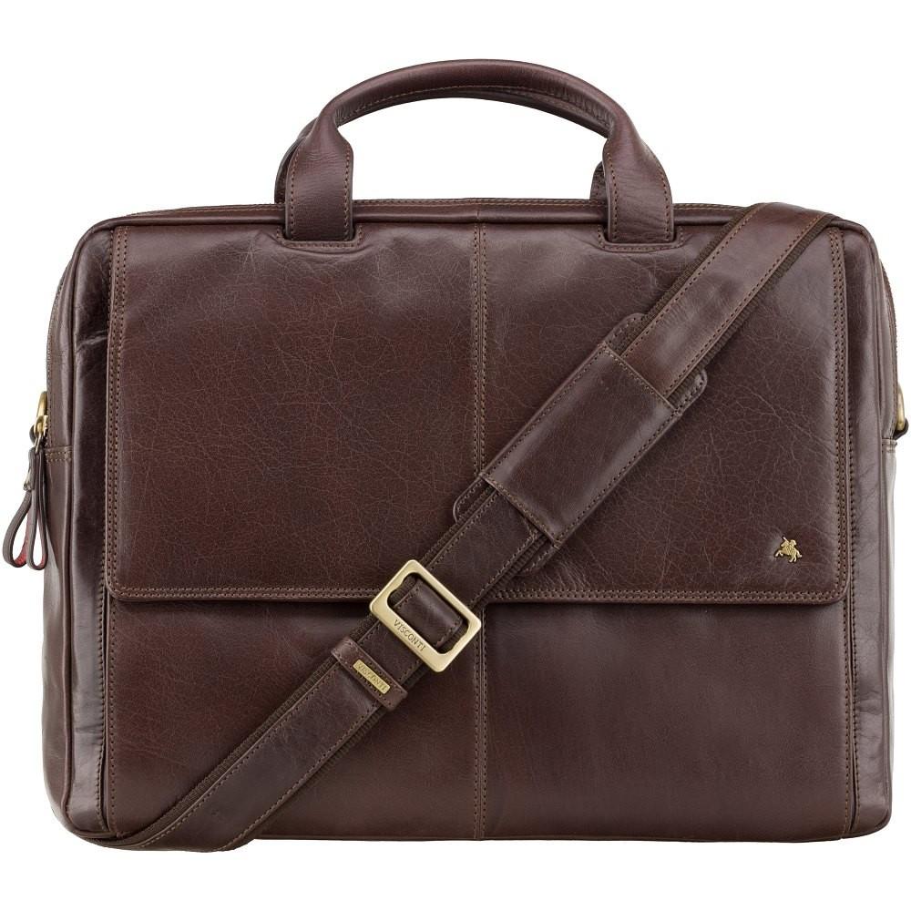 Коричневая сумка для ноутбука Visconti ML24 Brown (Великобритания)