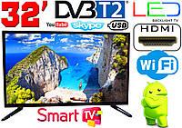 "LED телевизор 32"" FullHD,SmartTV, IPTV, Android, T2, WIFI, USB, фото 1"