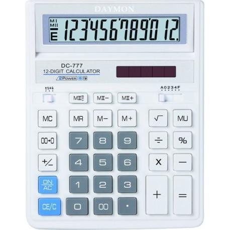 Калькулятор Daymon DC-777 White бухгалтерский 12р.