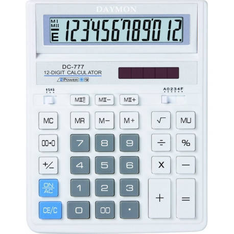 Калькулятор Daymon DC-777 White бухгалтерский 12р., фото 2