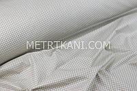 Ткань хлопковая с белым горохом  2,5 мм на темно-бежевом  фоне 125 г/м2  №1393