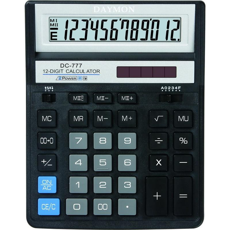 Калькулятор Daymon DC-777 Black бухгалтерский 12р.