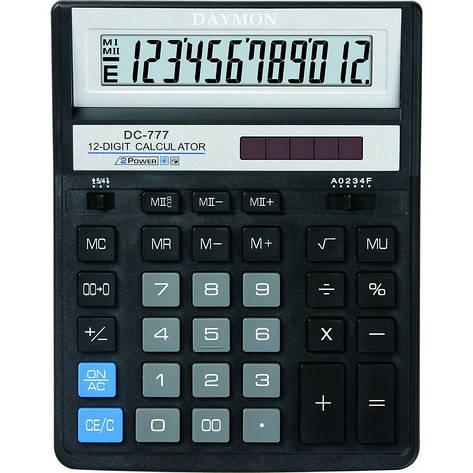 Калькулятор Daymon DC-777 Black бухгалтерский 12р., фото 2