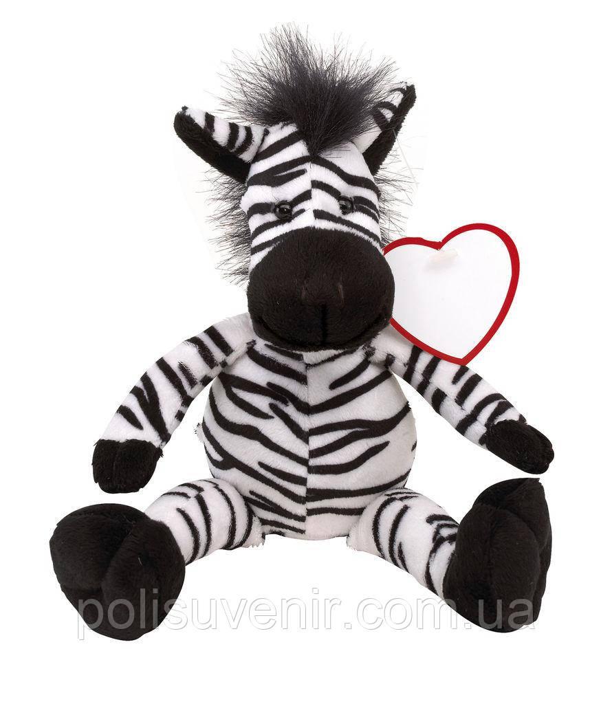 Плюшева зебра з м'яким хутром