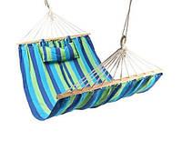 Гамак с подушкой тканевый 200x100,подвесное кресло
