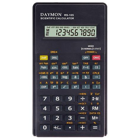 Калькулятор Daymon RS-105 научный, 56 формул, фото 2