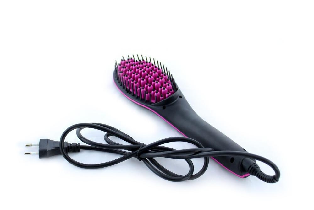 Распродажа! Электрическая расческа выпрямитель волос Simply Straight, Черная, с доставкой по Украине