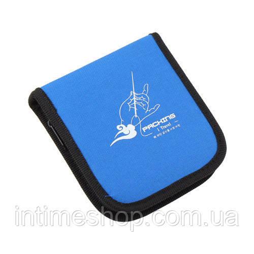 🔝 Дорожный набор для шитья, Packing I Travel, нитки, иглы, ножницы, булавки, линейка, в синем чехле | 🎁%🚚