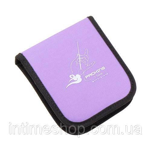 🔝 Набор для шитья, дорожный, в чехле, Packing I Travel, швейные аксессуары, в фиолетовом чехле | 🎁%🚚