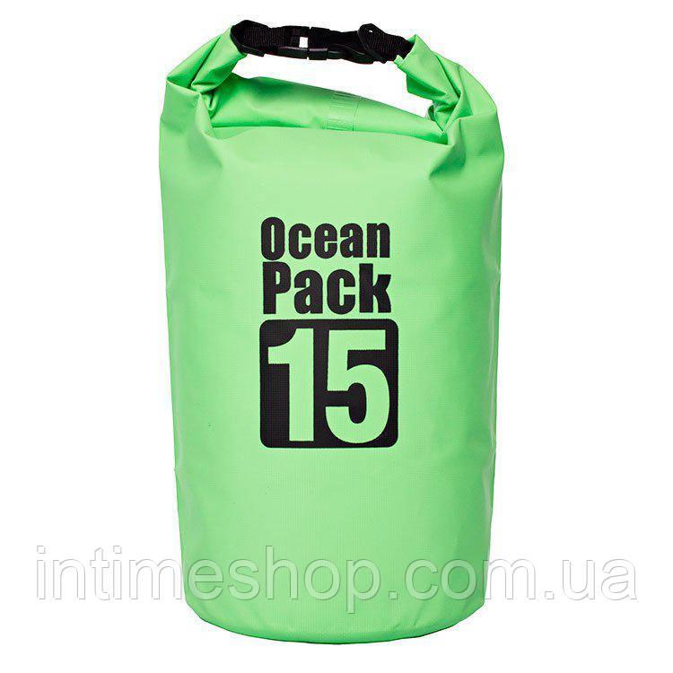 🔝 Рюкзак мешок, Water Proof Bag - Ocean Pack, герморюкзак, цвет - зелёный | 🎁%🚚