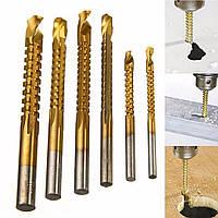 Сверла фрезерные 3, 4, 5, 6, 6.5, 8 мм под цилиндрический хвостовик