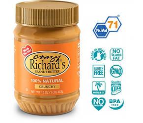 Арахисовая паста Crazy Richard's Crunchy Natural, 454 грамм (без соли и сахара). США