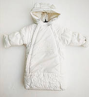 Детский Зимний Комбинезон Для Новорожденных Белого Цвета Ля-Ля, Украина 68 см