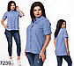 Женская рубашка в клетку (черный) 827240, фото 3