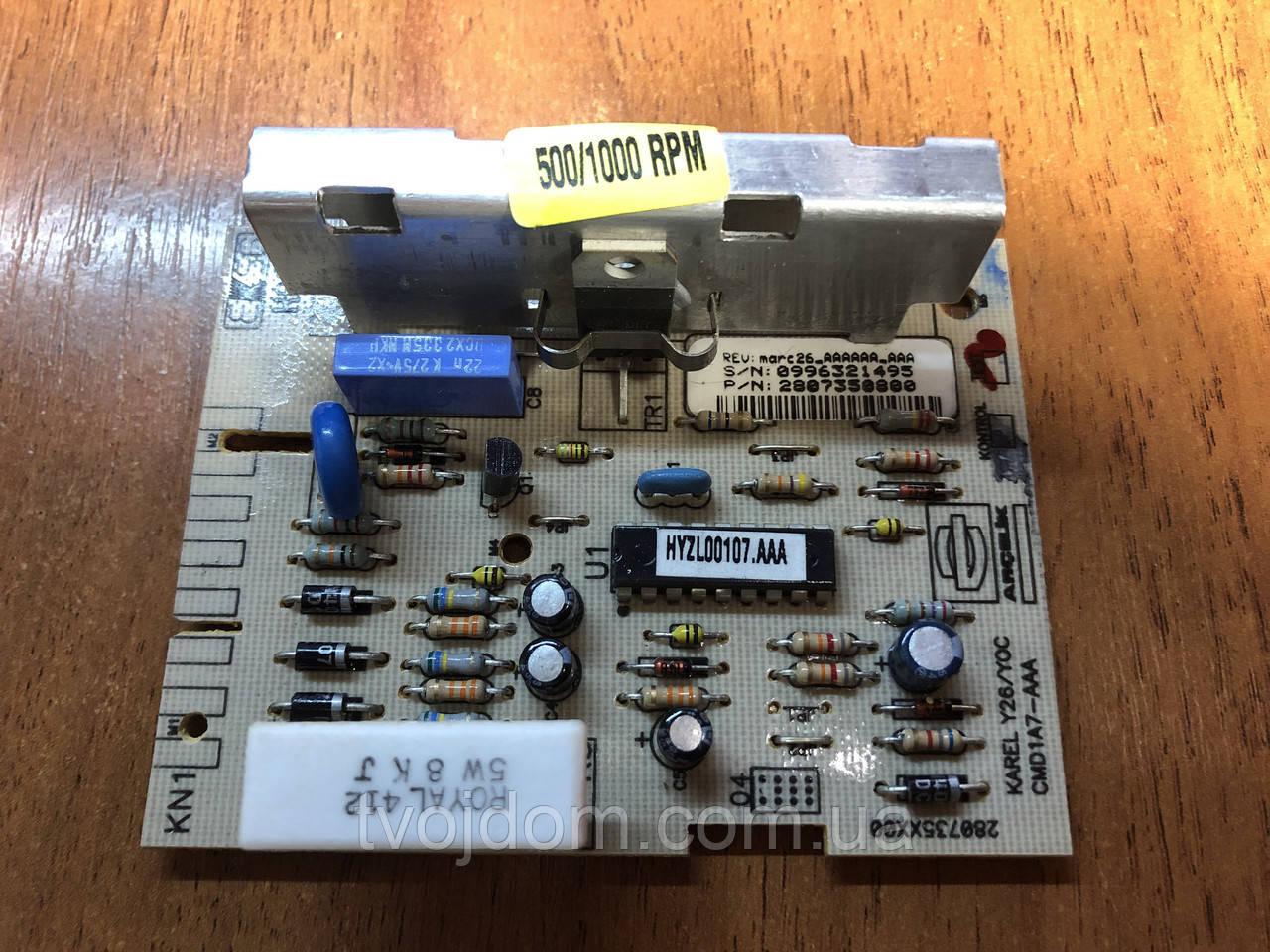 Модуль (плата) управления скоростью для стиральной машины Beko 2807350800
