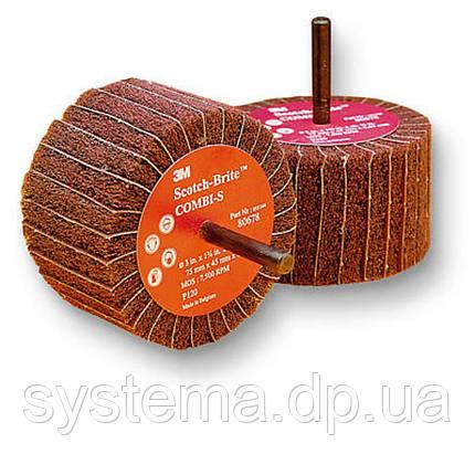 Лепестковая щетка со шпинделем CB-ZS 100мм х 45мм Р120, фото 2