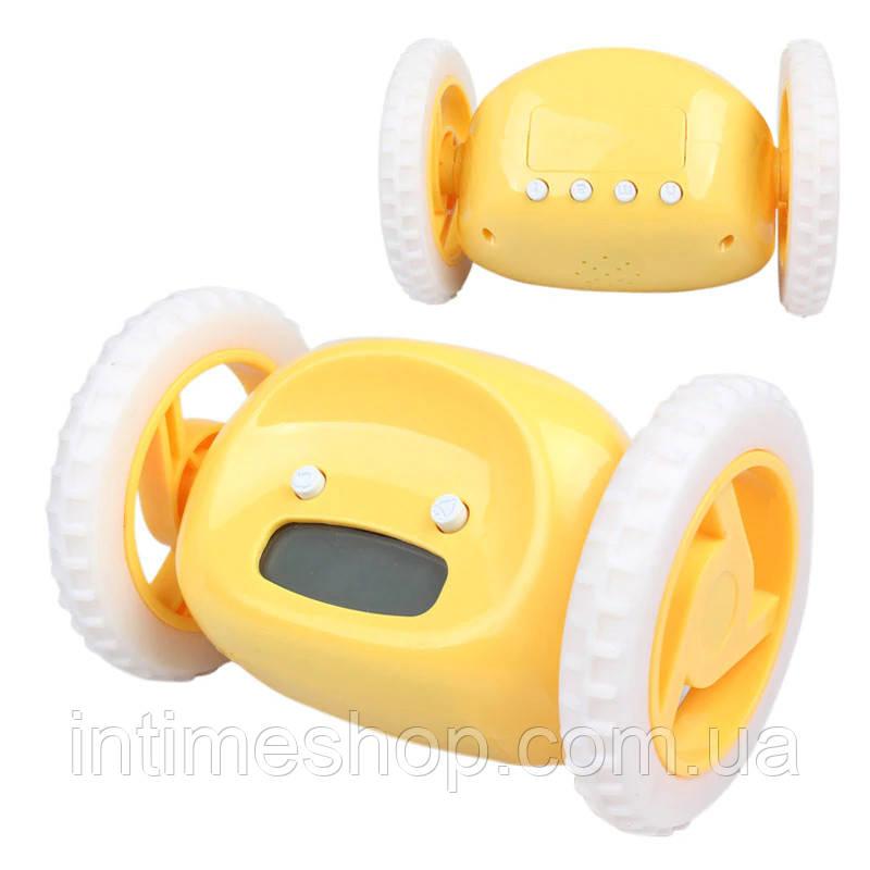 🔝 Убегающие часы-будильник Clocky - желтый | 🎁%🚚, фото 1