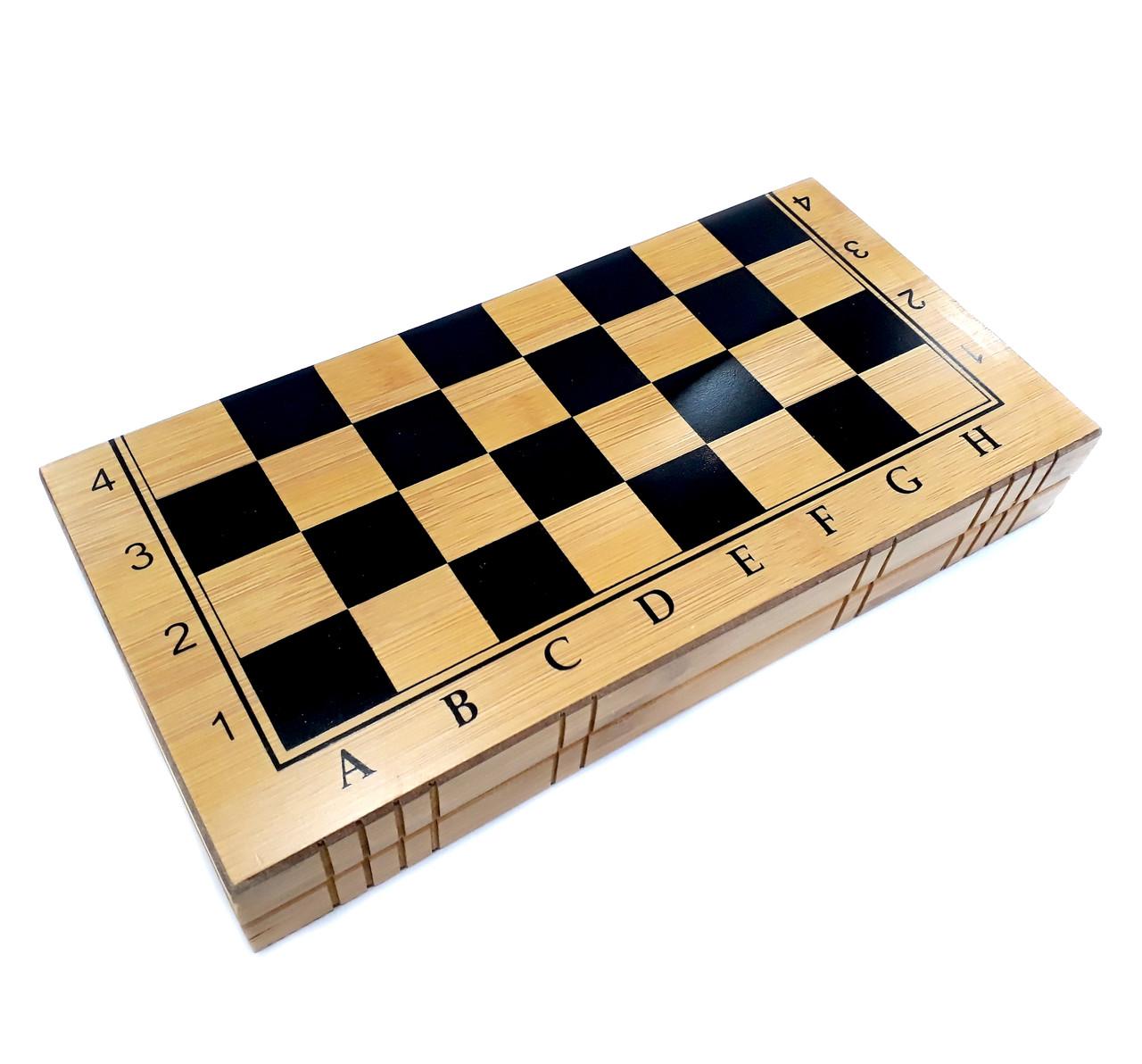 Настольная игра шахматы, шашки и нарды 34 см