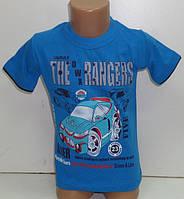 """Футболка для мальчиков """"The Rangers"""" 3,4,5,6,7 лет 100 % хлопок(мята)"""