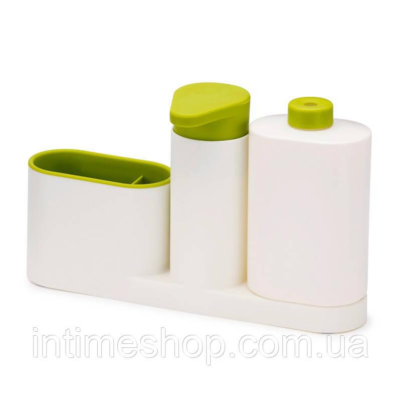 🔝 Органайзер для раковины, Sink Tidy Sey Plus, дозатор для мыла, подставка для зубных щеток, салатовый | 🎁%🚚