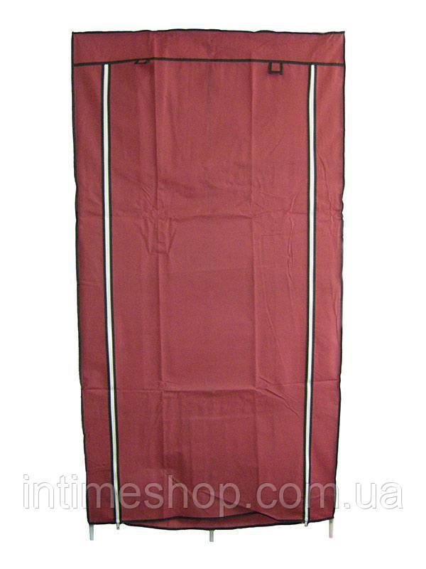 🔝 Текстильный шкаф, для одежды, HCX Storage Wardrobe 8890, складной, цвет - бордовый   🎁%🚚