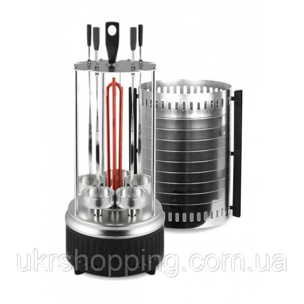 ✅ Вертикальная электрошашлычница, Kelli SC-KG10, вращающаяся, на 5 шампуров
