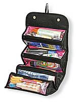 🔝 Органайзер для косметики Roll-N-Go | дорожняя женская  косметичка-клатч для косметики и хранения | 🎁%🚚