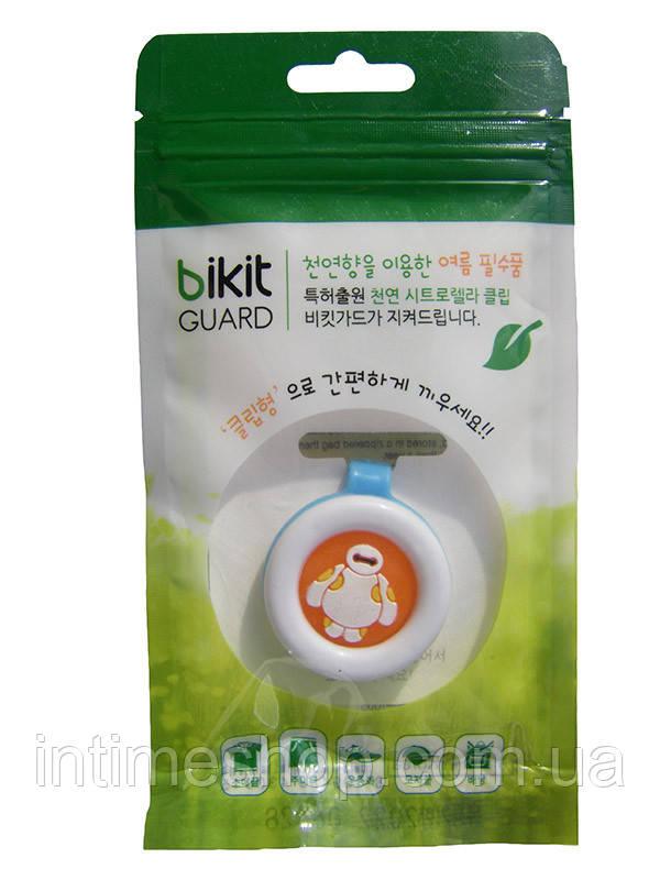 🔝 Средство от комаров для детей, клипса от комаров, Bikit Guard, цвет - голубой (робот) | 🎁%🚚