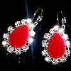 Сережки Мінні, (білі, червоні, рожеві, фіолетові)