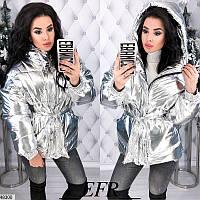 Куртка зимняя женская на синтепоне плотная плащевка 42-48 размеров, 2 цвета