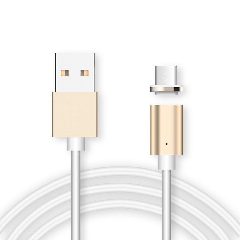 Магнитный кабель, зарядка для телефона Magnetic Cable 2 в 1 Золотистый