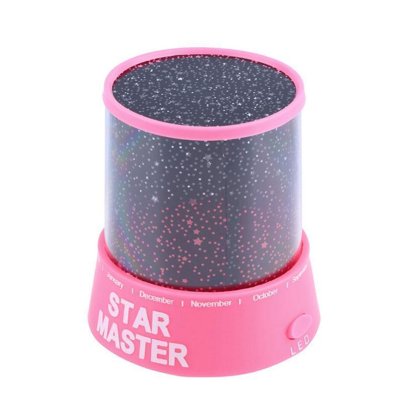 Звездное небо проектор,Star Master, Стар Мастер,Розовый, Блок питания в подарок!