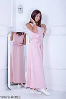 813de73ae07c8d0 Легкое свободное платье-макси с резинкой по талии Alessia XS, Rose