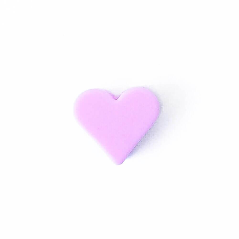Мини сердечко (розовый) силиконовая бусина