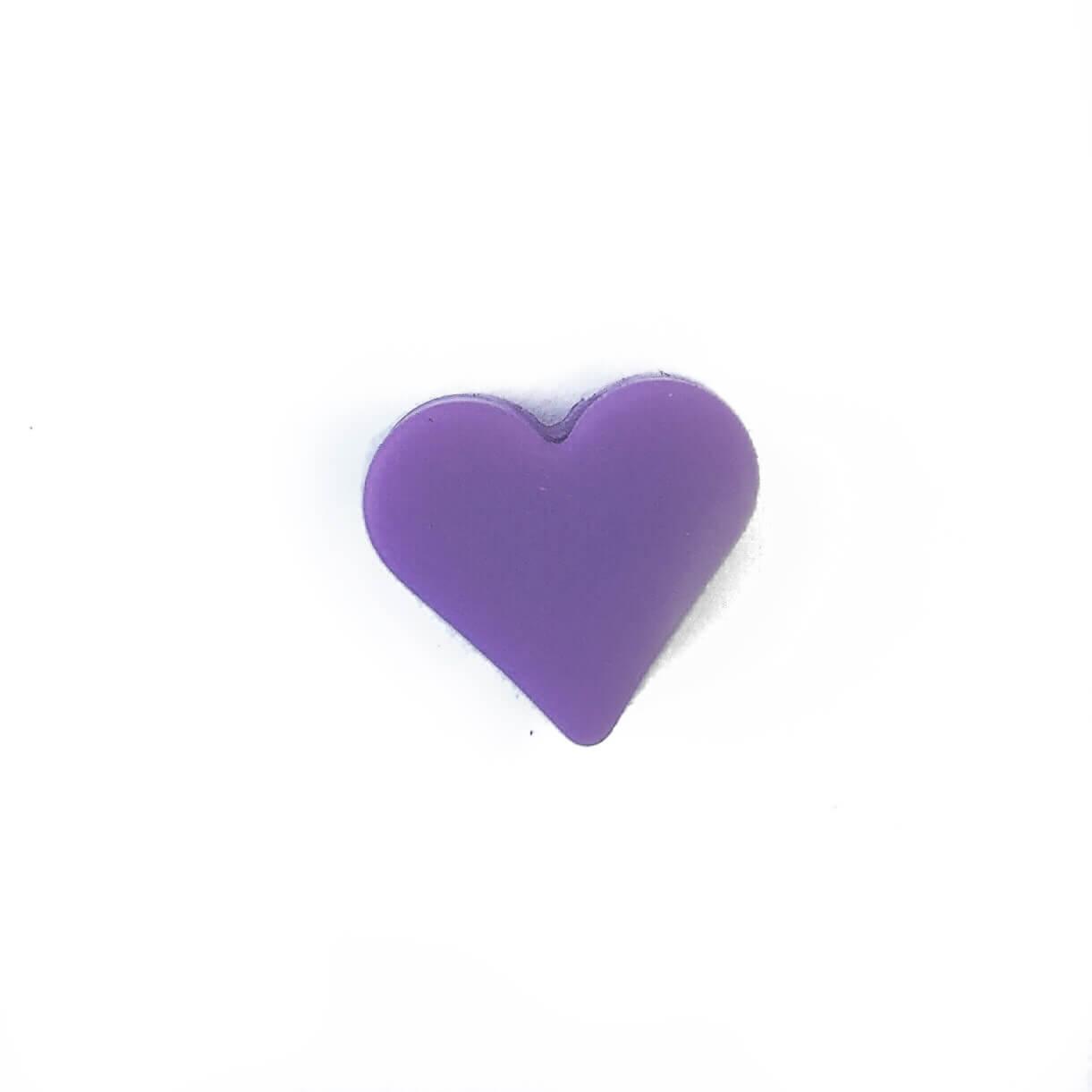 Мини сердечко (сирень) силиконовая бусина