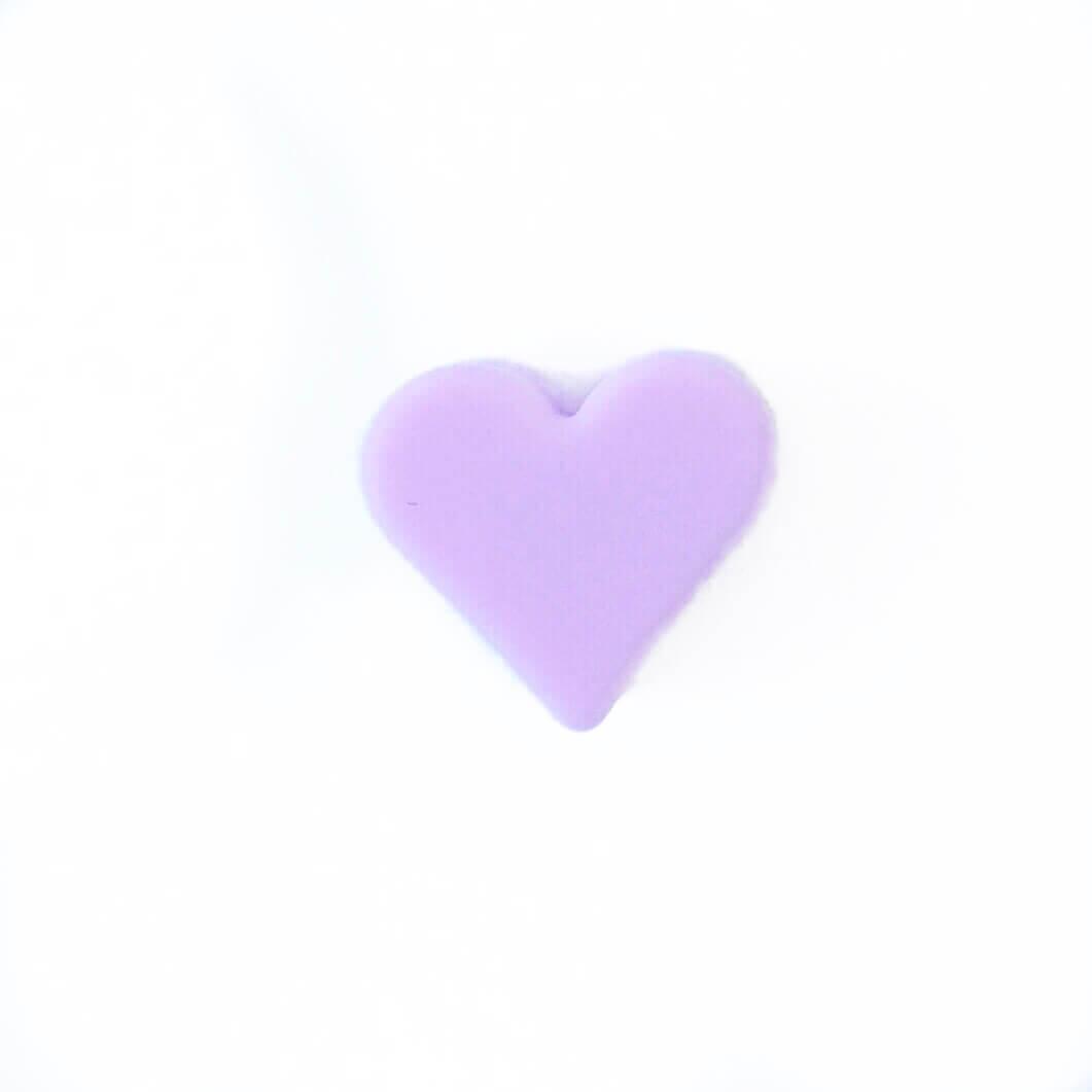 Мини сердечко (лаванда) силиконовая бусина